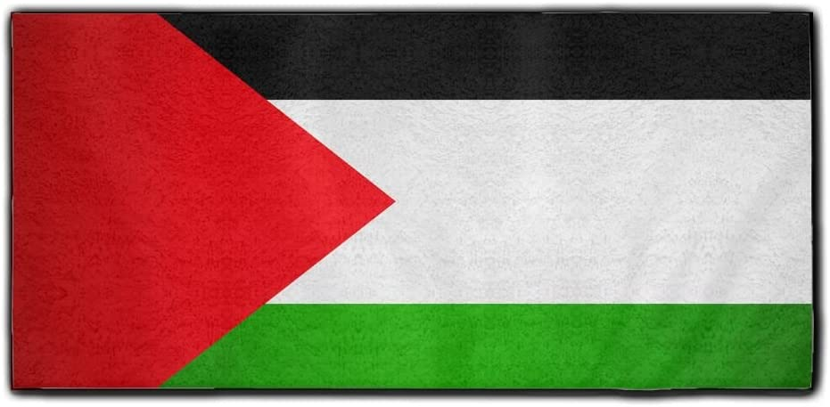 ChunLei Palestinian Flag Washcloths Face Towel Hair Care Towel Gym and Spa Towel Kitchen Dish Towel