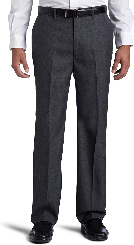 Perry Ellis Mens Big & Tall Classic-Fit Flat-Front Sharkskin Pant