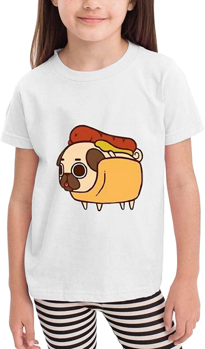 Children's T-Shirt Hot Pug Dog Kids Boys and Girls Short-Sleeved Shirt