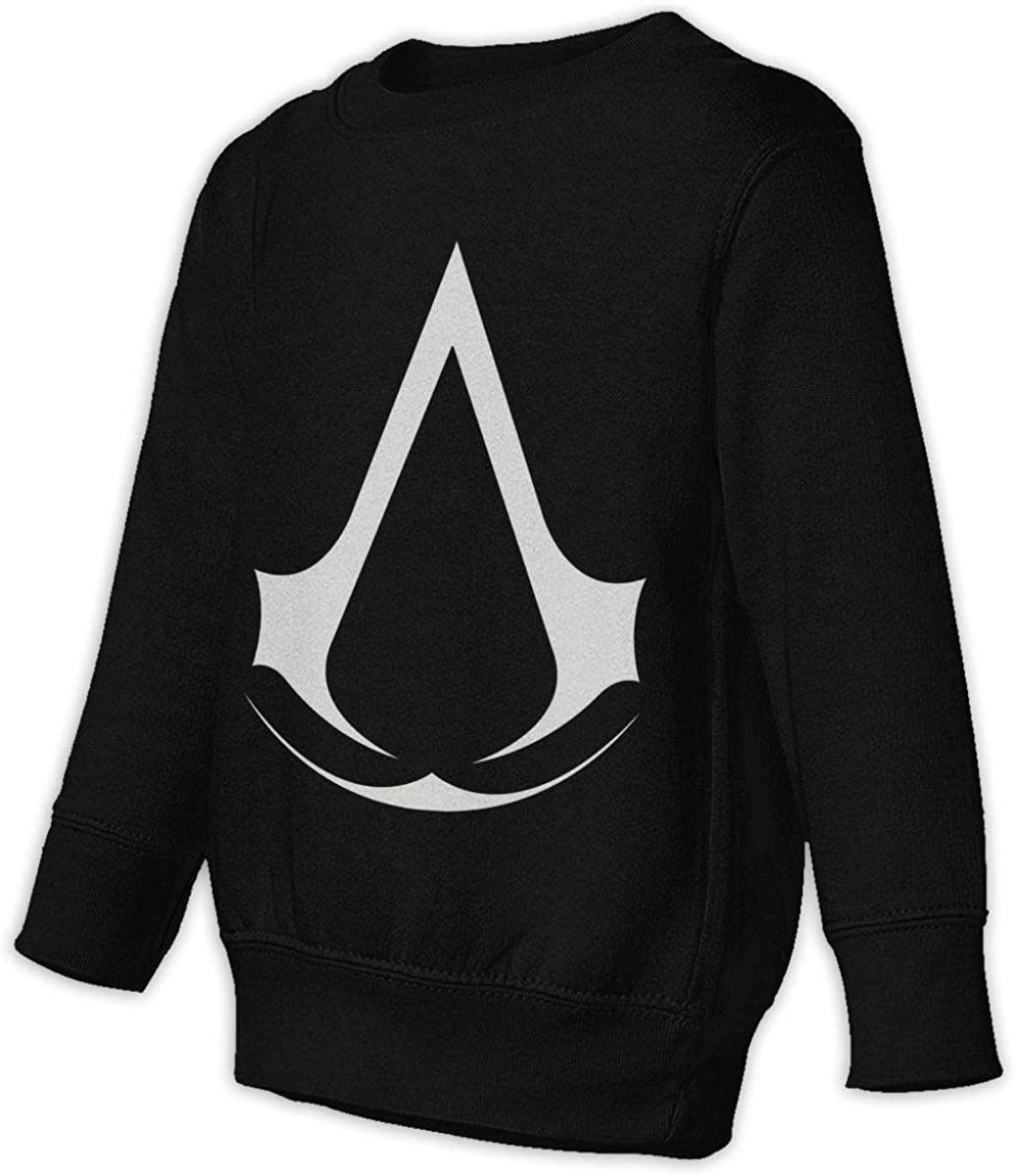 HUABDWA Classic Assassin Creed Video Game Series Unisex Sweatshirt Youth Boy and Girls Pullover Sweatshirt Black