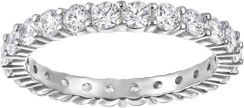 SWAROVSKI Women's Vittore Sparkling Crystal Ring Collection