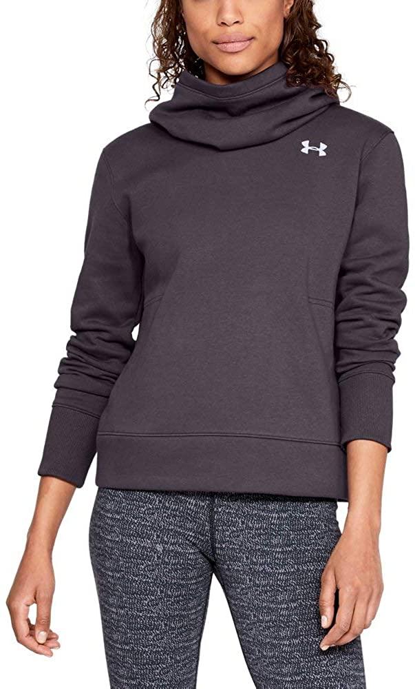 Under Armour Women's UA Cotton Fleece Logo Hoodie XS Pixel Purple