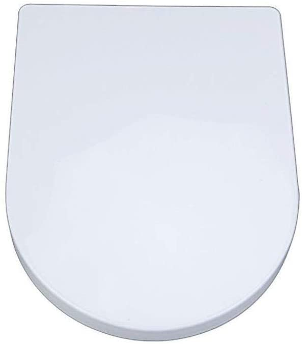 ZEFENG Toilet Seat Small Square U Universal Toilet Lid with Mute Slow Down Top Mounted Ultra Resistant Toilet Seat Cover,White-40~44cm33.5cm