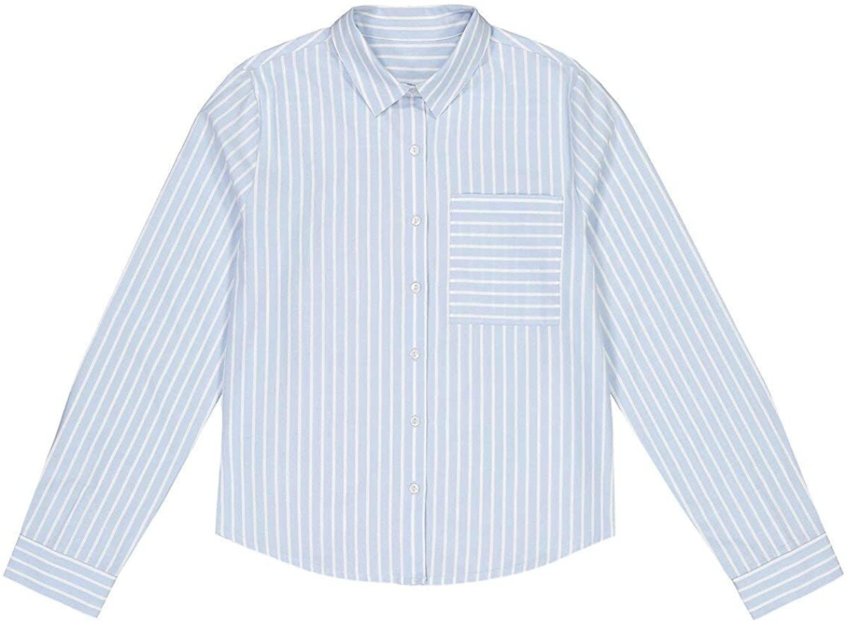 La Redoute Collection Striped Cotton Shirt, 10-18 Years