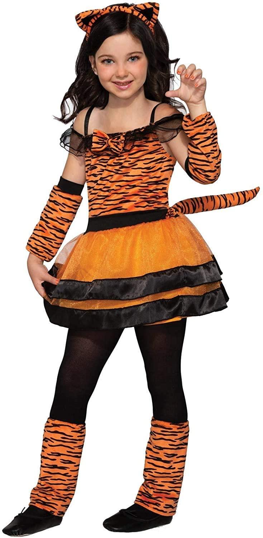 Forum Novelties Girl's Tiger Cub Costume Dress, As Shown, Large
