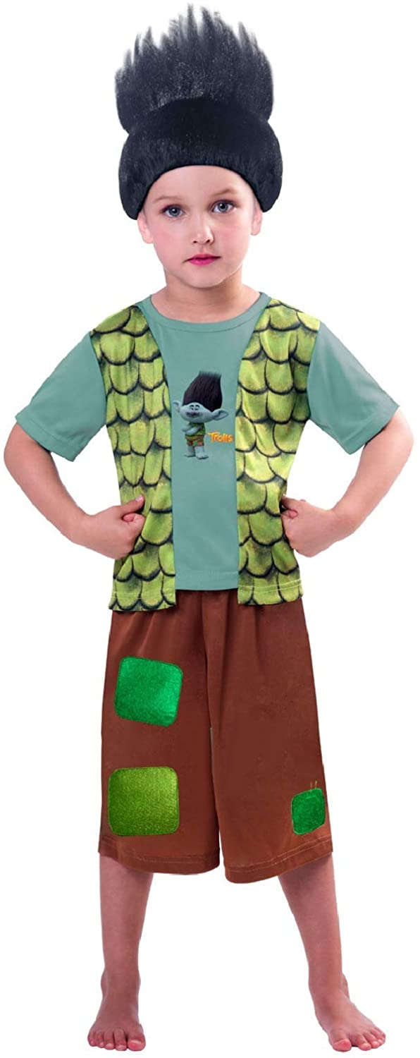 Boys Official The Trolls Branch TV Book Film World Book Day Fancy Dress Costume Outfit 3-8 Years