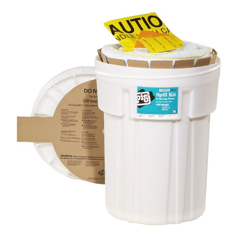 New Pig KIT436 46 Piece Oil-Only Spill Kit in 30-Gallon Overpack Salvage Drum, 21 Gallon Absorbency