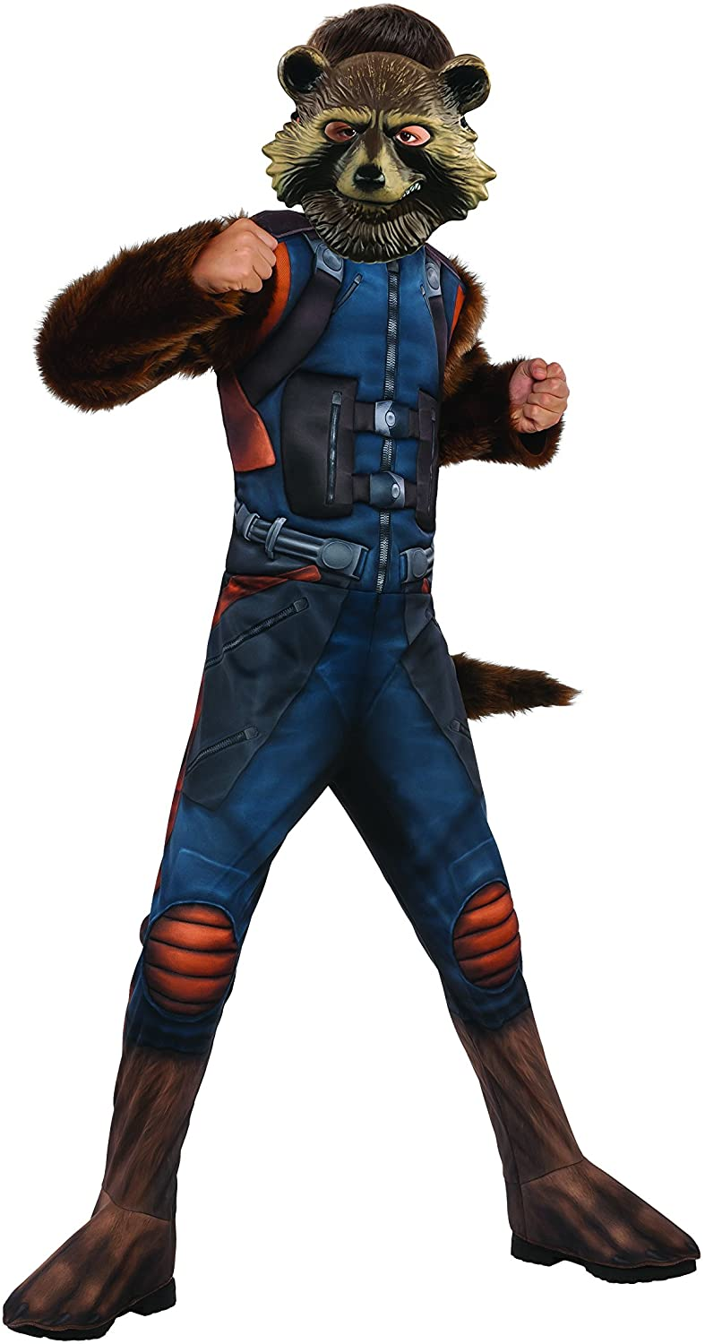 Rubie's Guardians of The Galaxy Vol. 2 Deluxe Muscle Chest Rocket Raccoon Costume, Small