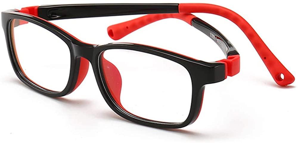 Fantia Kids Glasses Blue Light Blocking Lens Non-Prescription Eyeglasses Fake Children Eyewear