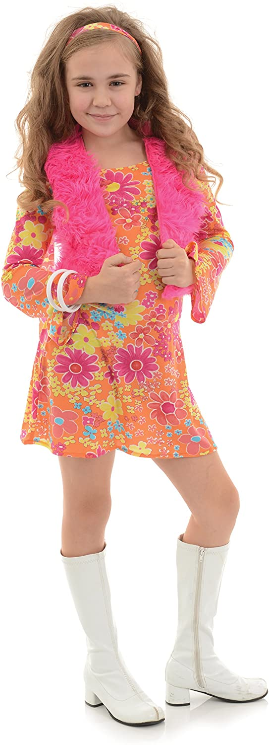 UNDERWRAPS Big Girls Girls Flower Power Costume - Large Childrens Costume, Multi, Large
