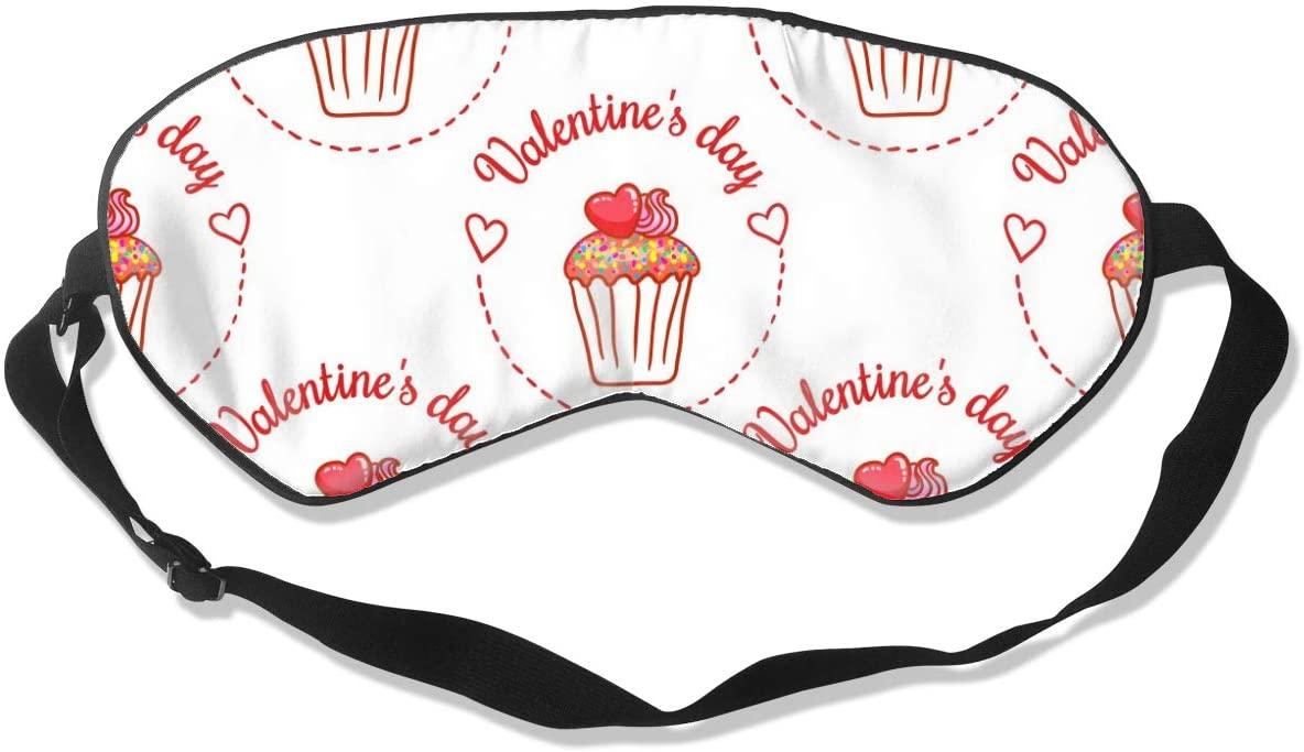 Sleep Mask Eye Blindfold Valentines Day Seamless Eye Mask Eye Cover Eyeshade Adjustable Blindfold Sleeping Mask for Men Women Lightweight