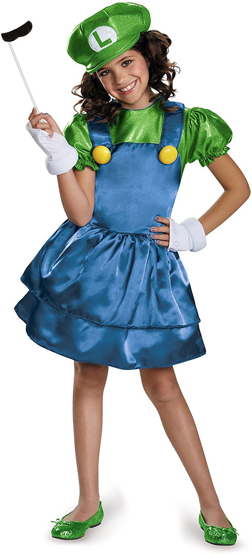 Luigi Skirt Version Costume, Medium (7-8)