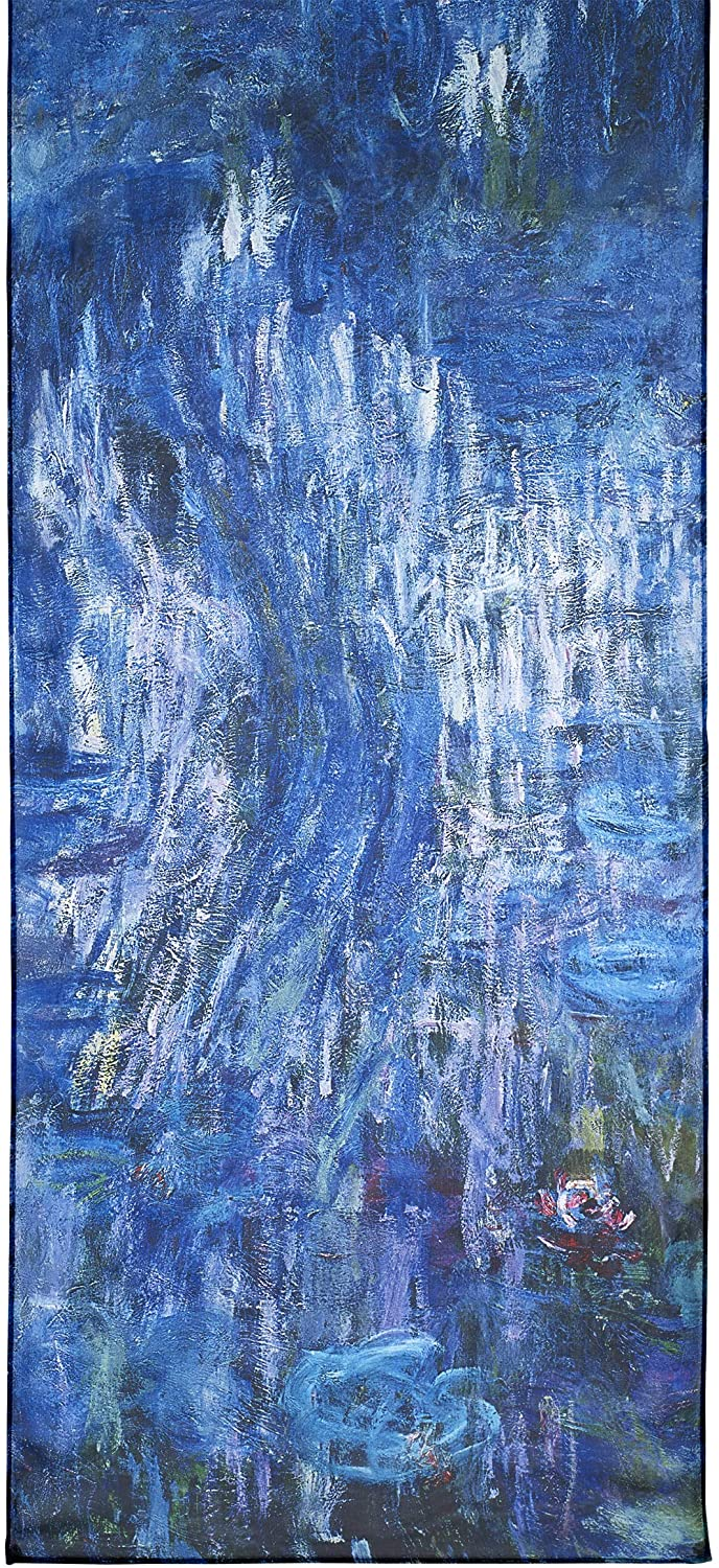 Monet, Waterlilies and Reflection of a Willow Tree Scarf