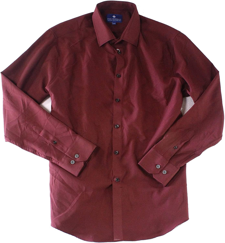Ryan Seacrest Mens Classic-Fit Button Up Shirt