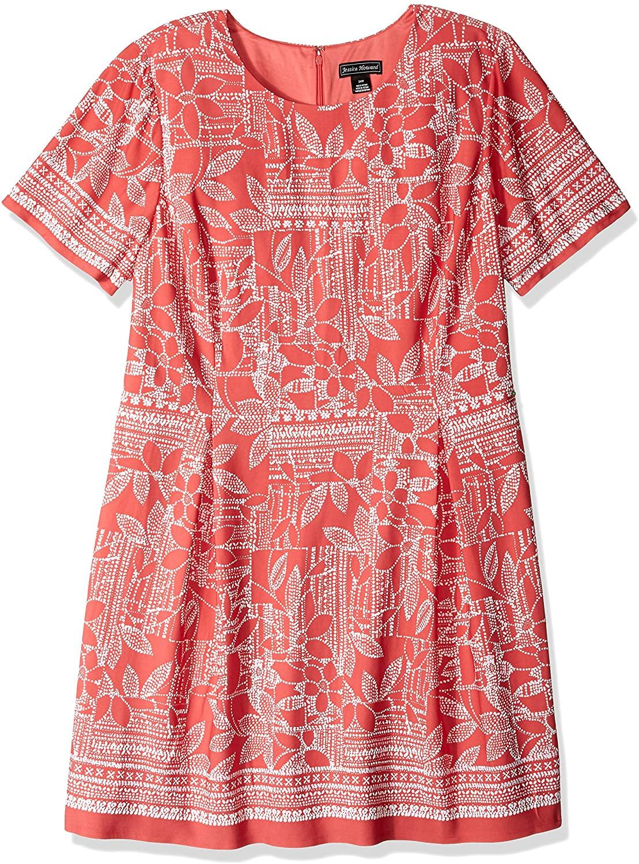 Jessica Howard Plus Size Womens A-line Elbow Sleeve Dress