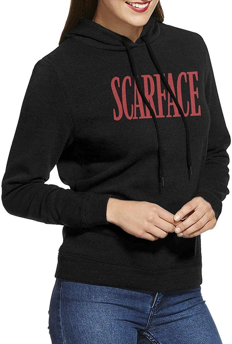 Wehoiweh Scarface Women's Moderate Feel, Micro-Elasticity, Good Breathability, Hoodie