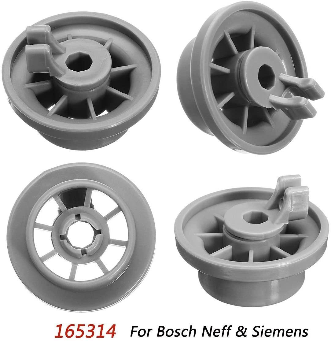 MAYITOP 4Pcs Dishwasher Lower Rack Basket Wheel Roller For Bosch Neff & Siemens AP2802428, PS3439123,165314