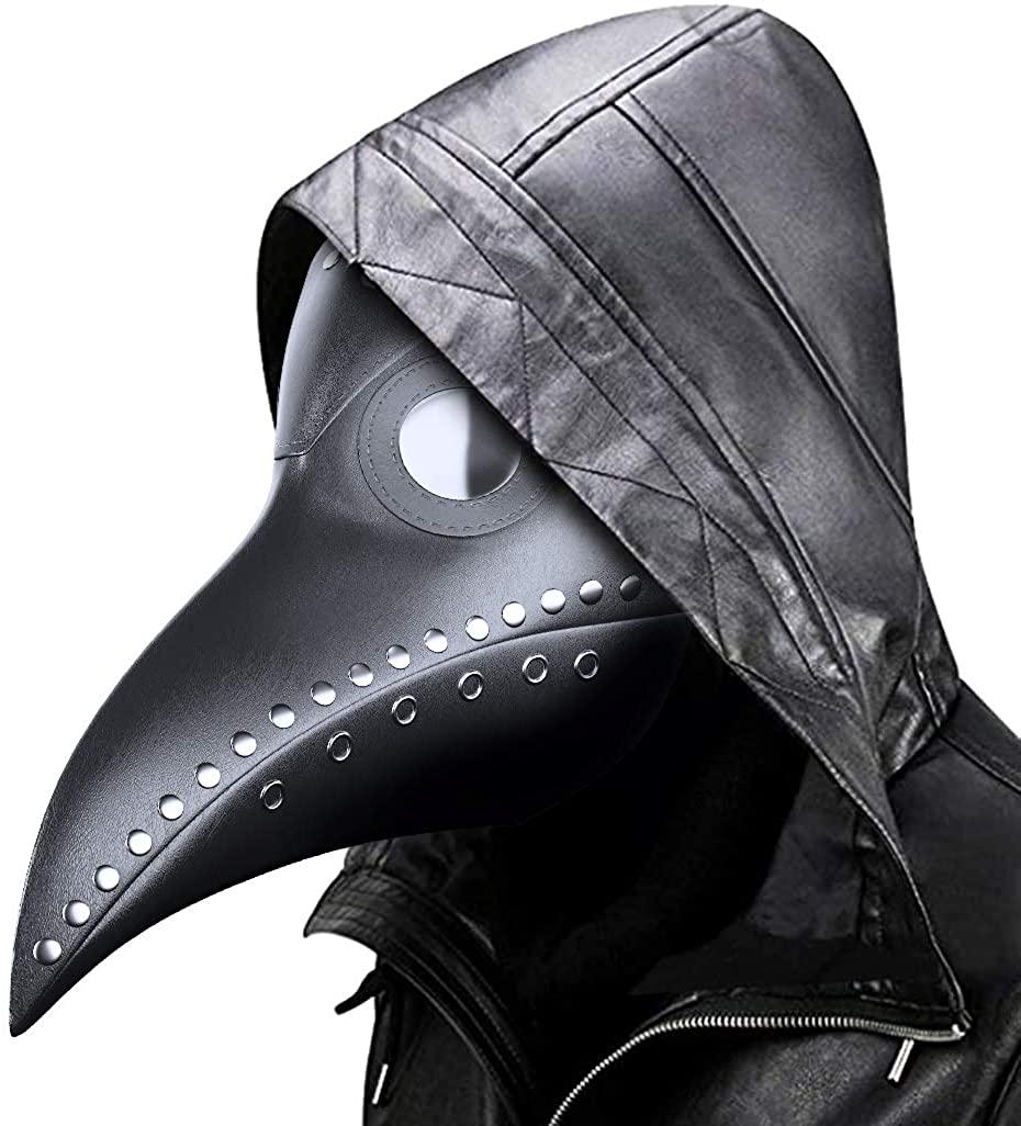 MEIGUISHA Plague Doctor Bird Mask Gothic Cosplay Retro Steampunk Props for Halloween Costume