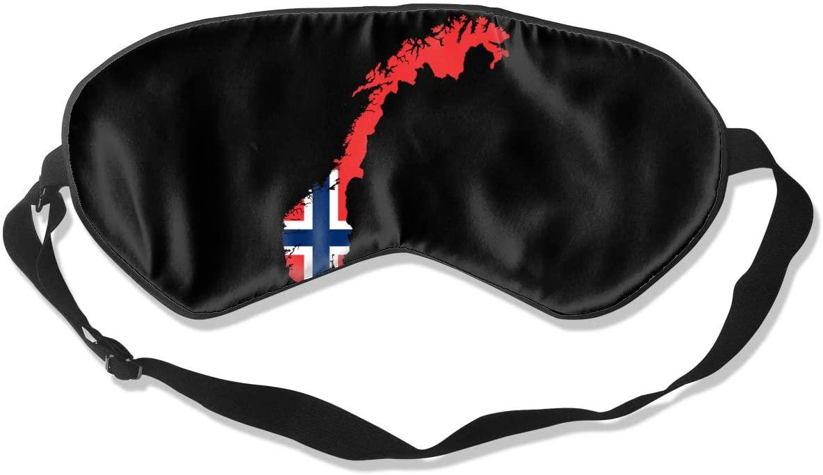 Norway Map Flag Eye Mask Sleeping Mask 100% Double-Sided Silk Eyeshade Eye Cover