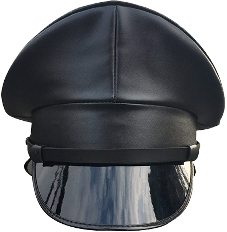 Hao Kaos PU Leather Performance Hat Thailand Military Cap Night Bar Hat