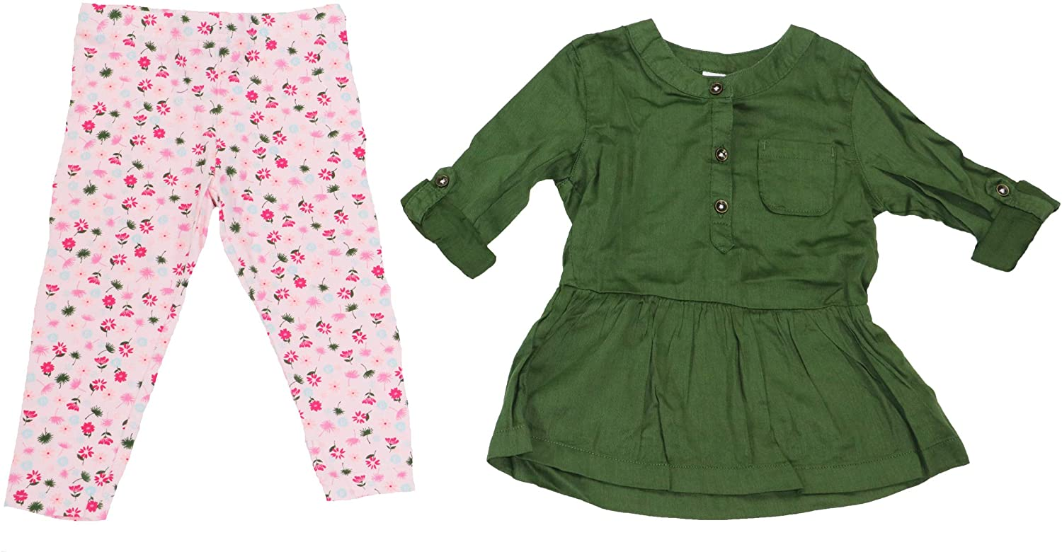 Carter's Baby Girls 2-Piece Tunic Top and Floral Leggings Outfit Set