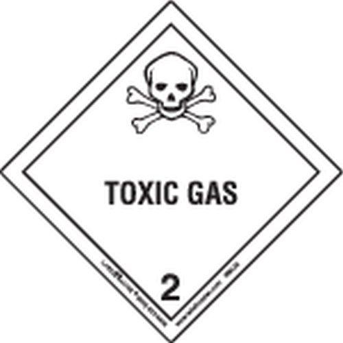 Labelmaster HML25 Toxic Gas Worded Label, Paper, Hazmat, 4