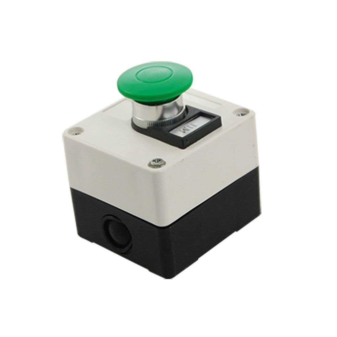660V 10A Momentary Switch Green Mushroom Push Button Station