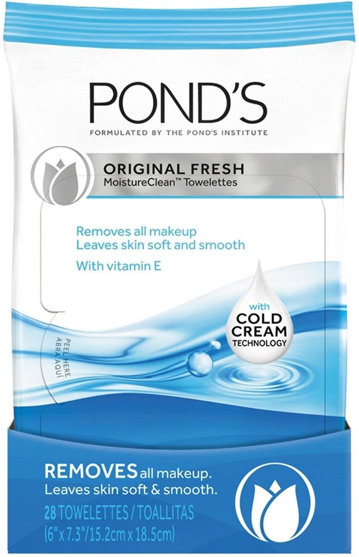 Ponds Moisture Clean Towelettes Original Fresh