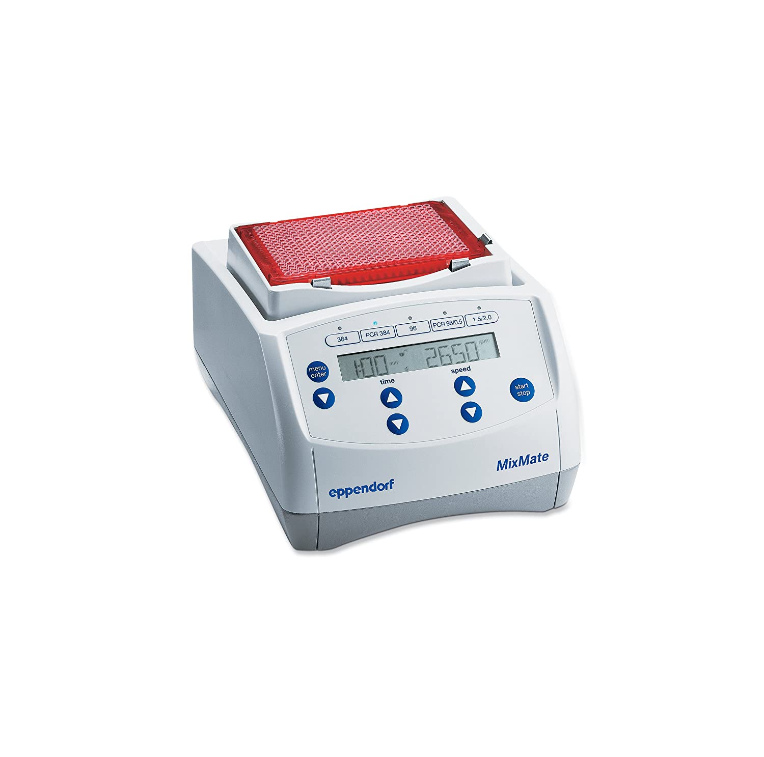 Eppendorf 5353000170 MixMate with 1.5/2, 0.5, and 0.2ml Tube Adapters, Includes Two FREE Boxes of 96-well PCR Plates (25 pcs. semi-skirted, 20 pcs. unskirted)