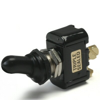 Off / Momentary On Double Pole 20 Amp Sand Sealed Toggle Switch With Screw Terminals