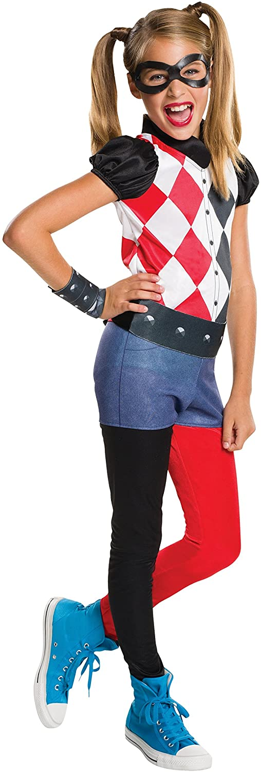 Rubie's Costume Kids DC Superhero Girls Harley Quinn Costume, Small