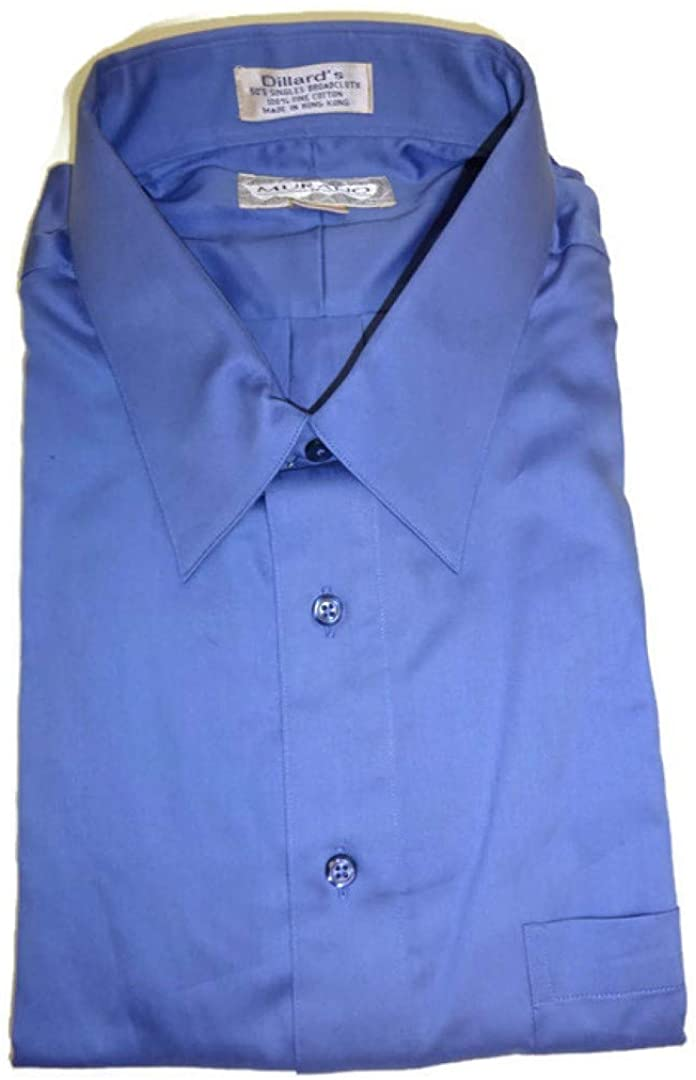 Murano Classic Fit Button-Down Collar Dress Shirt, Lake Blue 17-35
