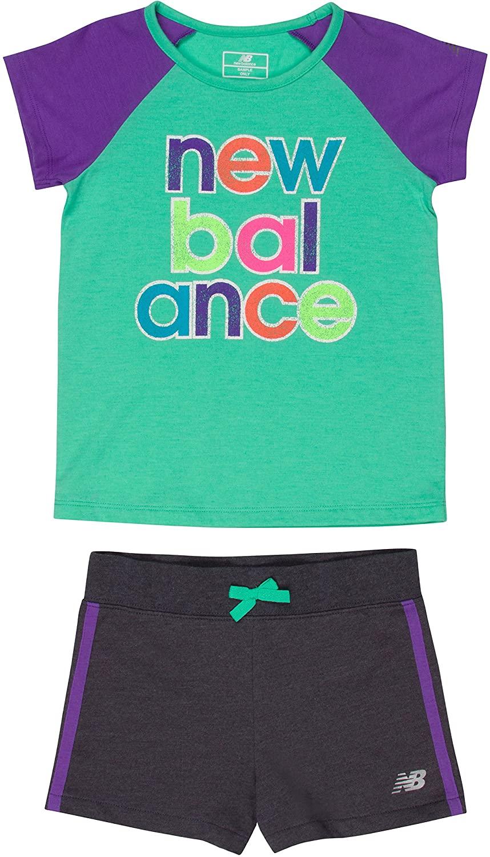 New Balance Girls' Performance Tee and Short Sets