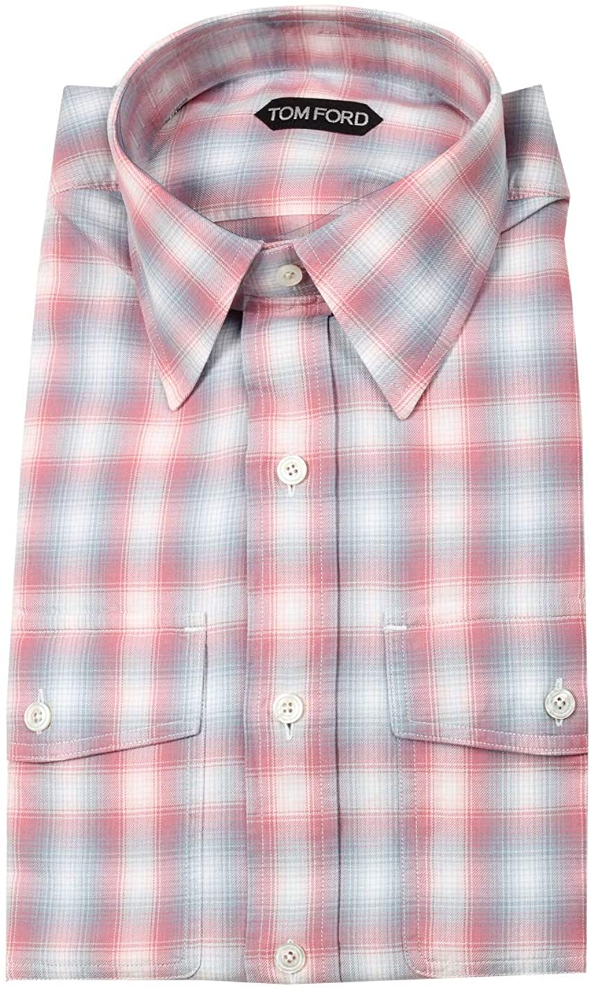 CL - Tom Ford Checked Red Blue Casual Shirt Size 39/15,5 U.S.