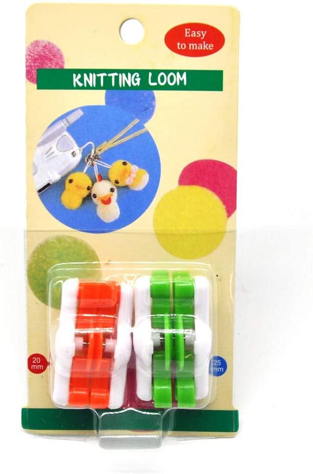 minansostey 2pcs Pompom Pom-Pom Maker for Fluff Ball Weaver Needle DIY Wool Knitting,Craft Tool