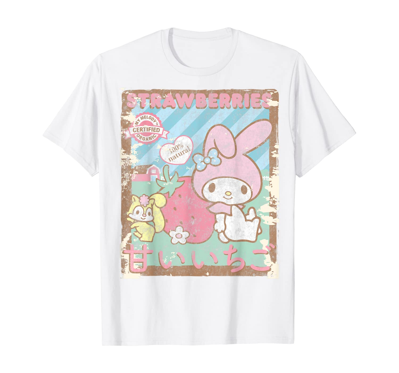 My Melody Strawberry Picking Strawberries Farm T-Shirt