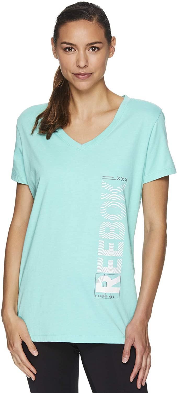 Reebok Womens Ondas Workout Graphic T-Shirt