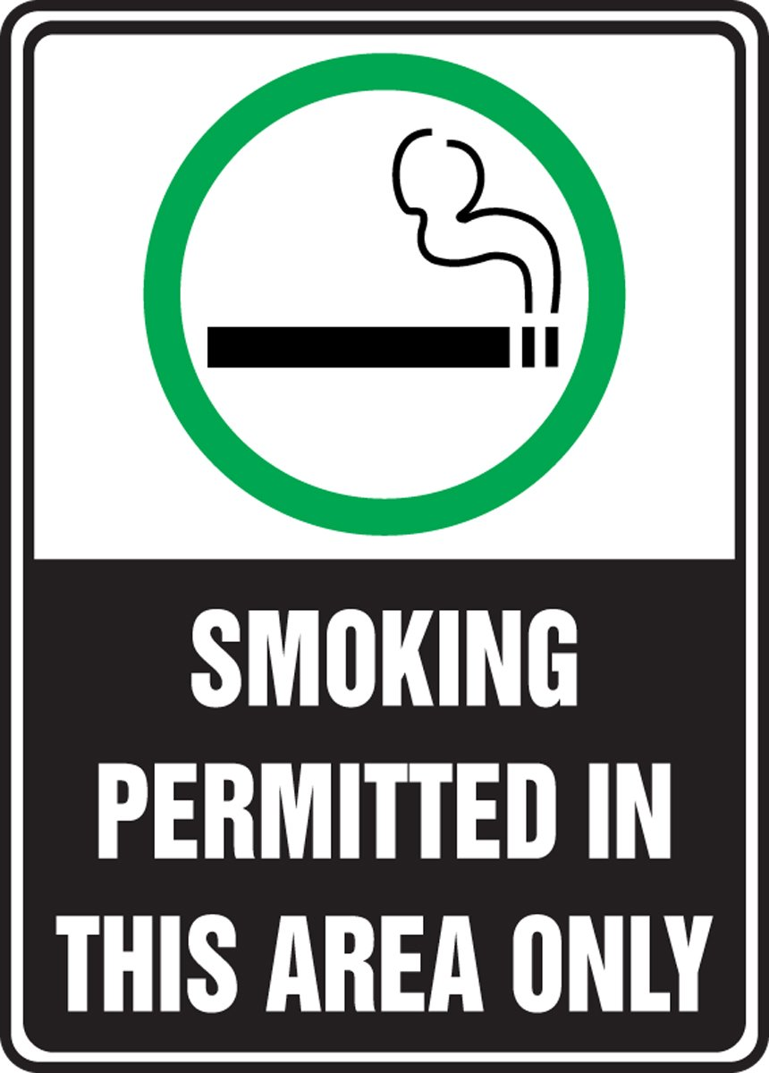 SMOKING PERMITTED IN THIS AREA ONLY (W/GRAPHIC) (3 Pack)