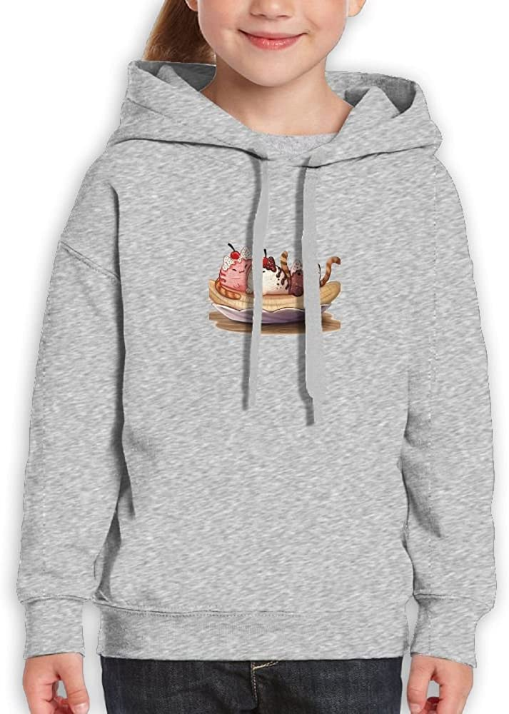 LENSITON Youth Hooded Sweatshirt 100% Cotton Pullover Hoodie