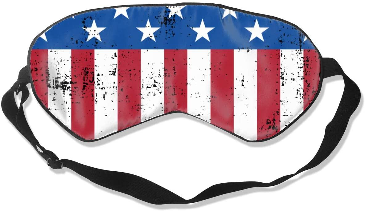 Retro American Flag Eye Mask Sleeping Mask 100% Double-Sided Silk Eyeshade Eye Cover