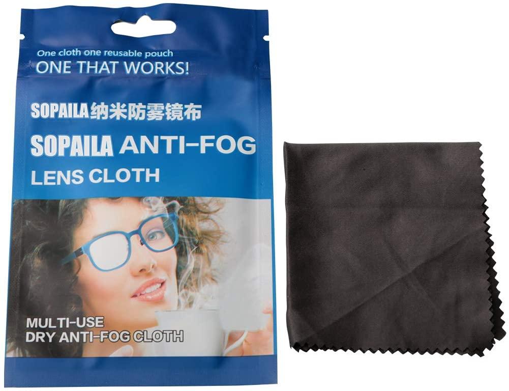 Sopaila 6PACK Nano-Microfiber NO Wash Anti-Fog Reusable Wipe Clean Cloth for Eyeglasses, Camera Lenses, IPad, Phones