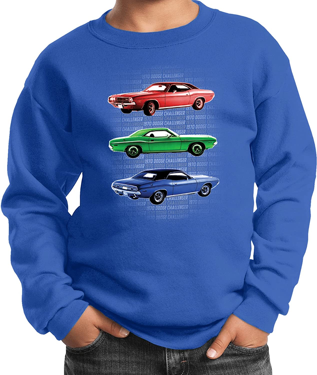 Buy Cool Shirts Kids Dodge Sweatshirt 1970 Challengers Youth Sweat Shirt