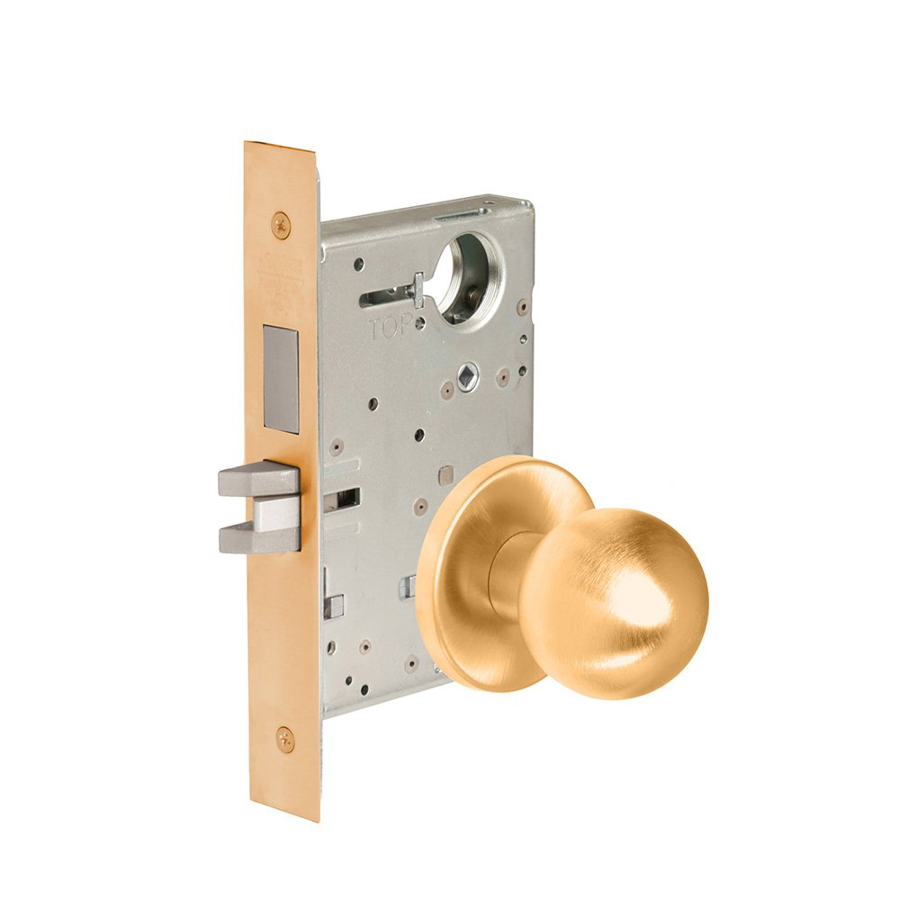 CORBINRUSSWIN ML2065-GWC-612-LC 612 Satin Bronze, Knob GWC Global, Dormitory/Exit, Steel; Stainless Steel; Bronze