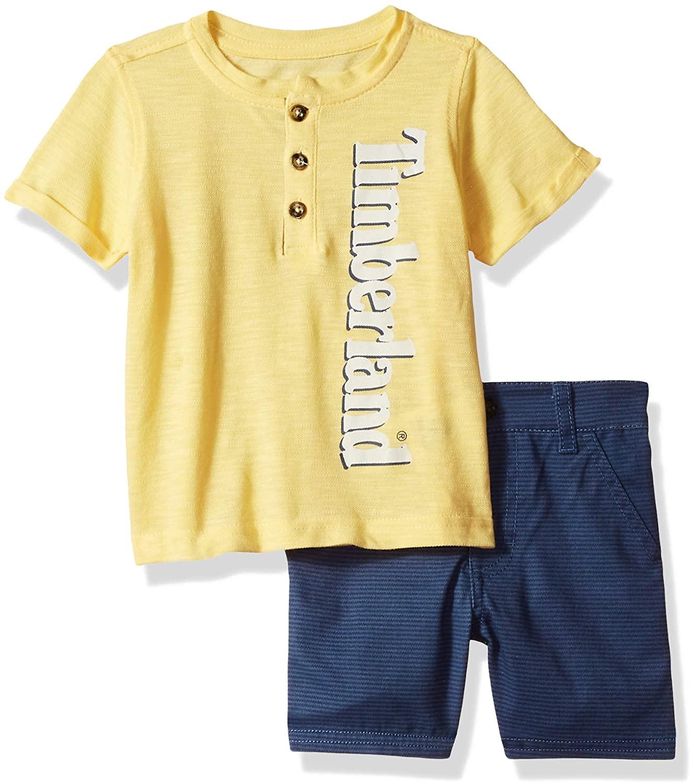 Timberland Baby Boys 2 Pieces Tee Shirt Shorts Set