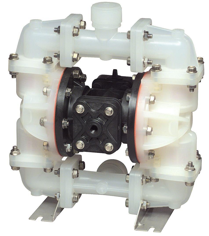 Sandpiper S07B1K1KPNS000. Air-Powered Double-Diaphragm PVDF Pump, Santoprene; 23 GPM