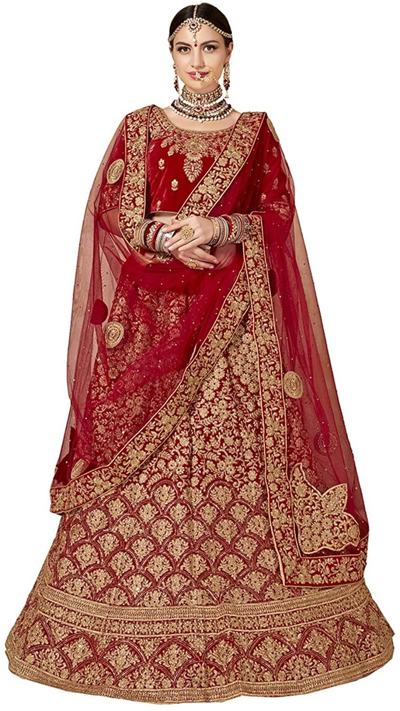 Indian Women Designer Partywear Ethnic Traditional Red Lehenga Choli.ICW2794-10