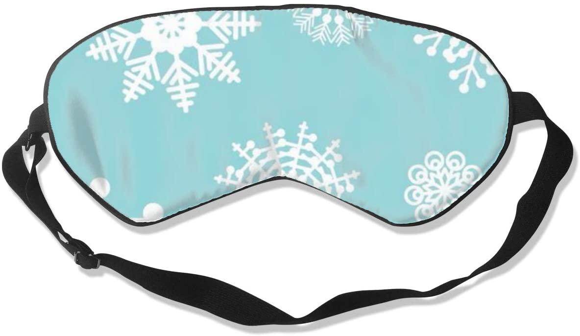 Sleep Eye Mask For Men Women,Snowflake Soft Comfort Eye Shade Cover For Sleeping