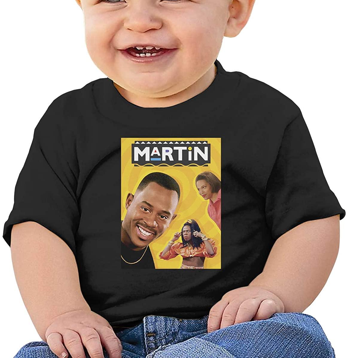 Martin Lawrence Toddler Baby Clothes Cotton T-Shirt Black Vintage Short Sleeve Shirt