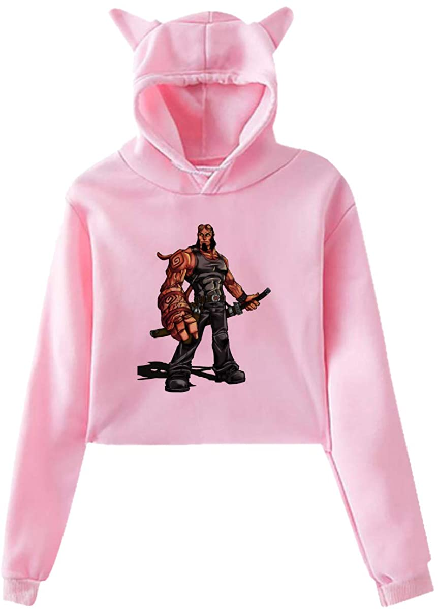 H-E-Llb-Oy Cute Long Sleeve Home Wear Clothes Hoodie Sweatshirt with Cat Ear