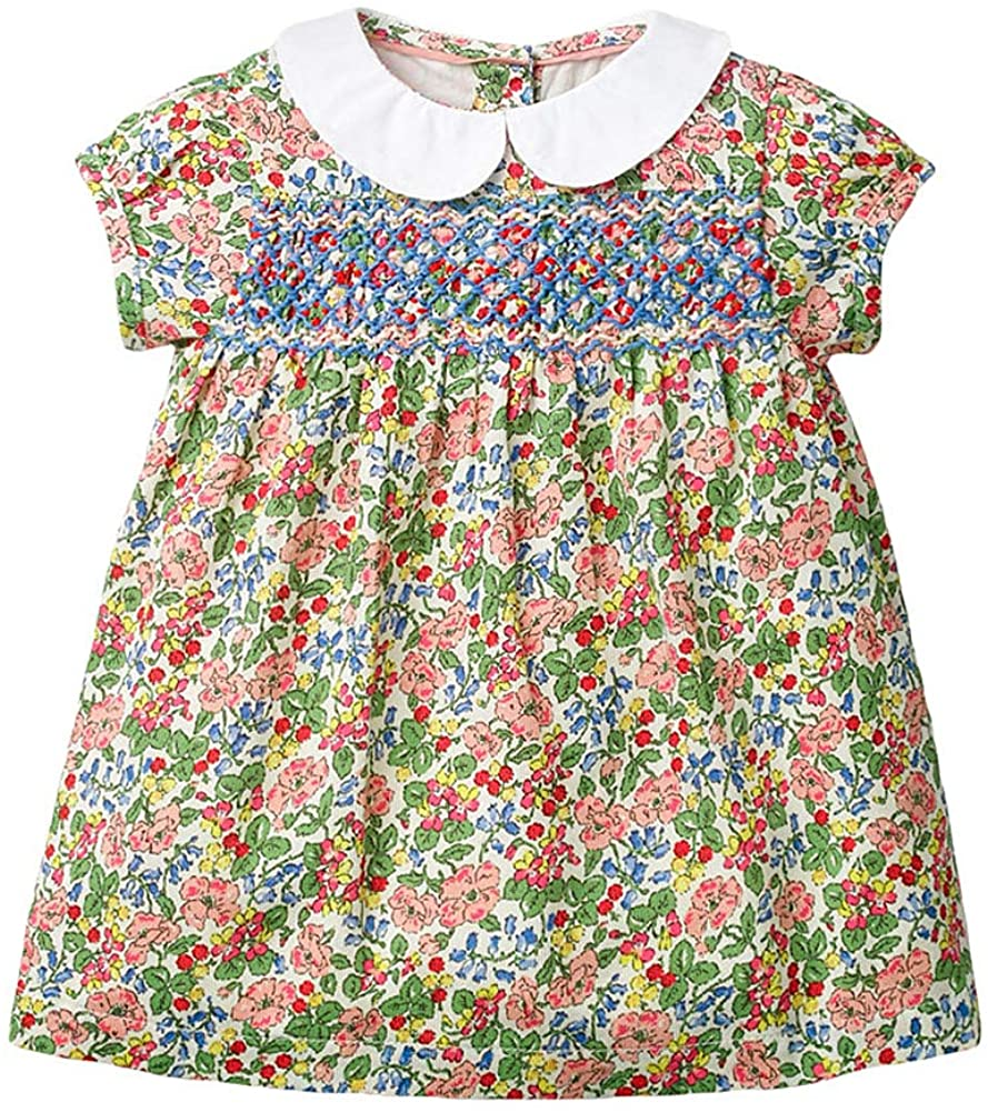 FKKFYY Casual Sundress for Kids Girl Size from 2Years to 7Years